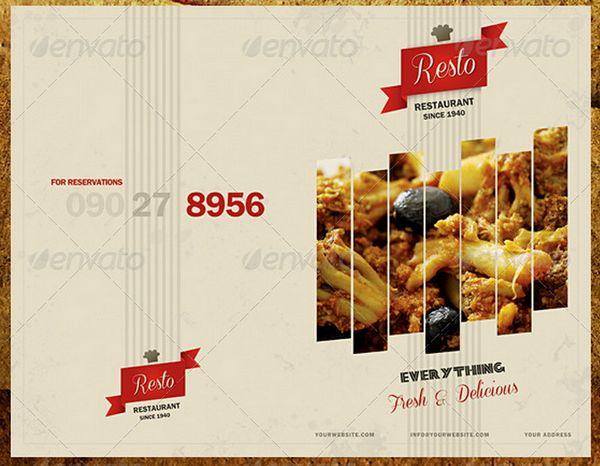 Food Menus Templates For Caf And Restaurants  Ginva
