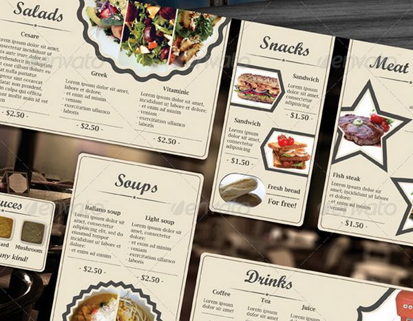30 food menus templates for cafe and restaurants 27