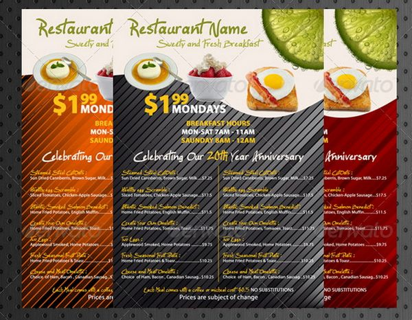 30 Food Menus Templates for Caf and Restaurants – Food Menu Template