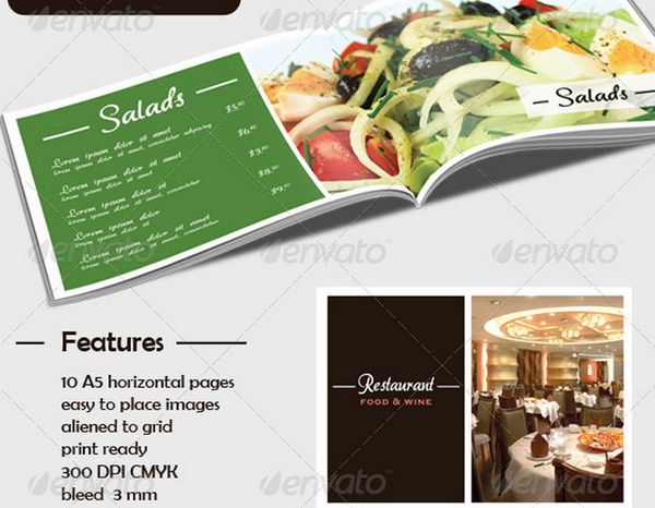 30 food menus templates for cafe and restaurants 4