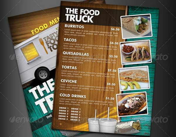 30 food menus templates for cafe and restaurants 9