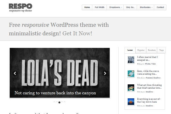 4 free magazine wordpress theme 2012