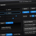 20 Free Black and Dark User Interface PSD Files