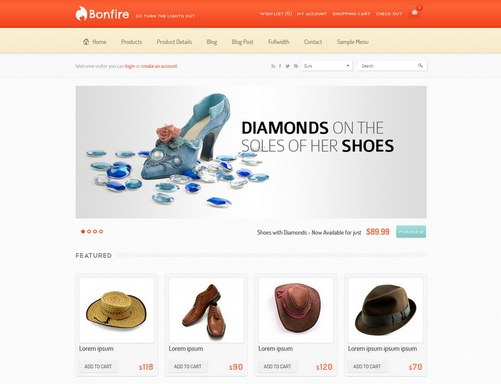 ecommerce free website templates