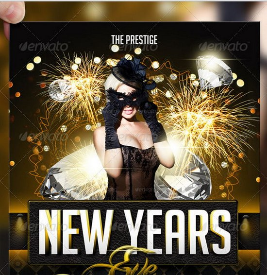 Awesome 2013 New Year Event Flyer Templates – New Year Poster Template