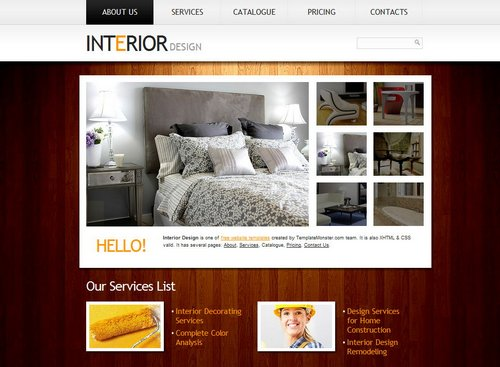 40 great free portfolio designs css html for Interior design layout templates