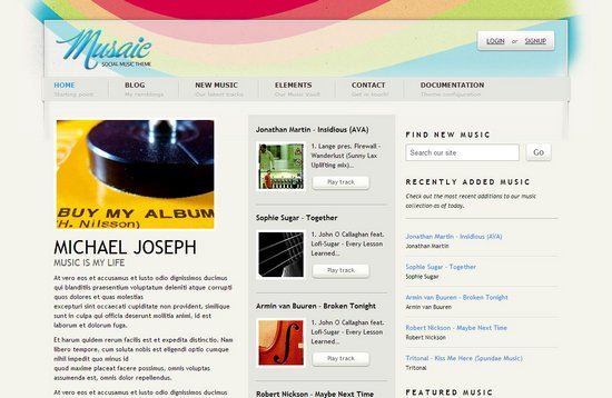 20 Well-Designed WordPress Music Themes