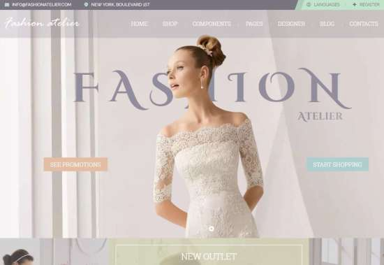 Wedding Dress Websites 5 Elegant Wedding Love website template