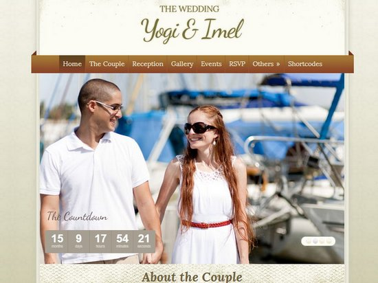 20 Best Wedding Website Templates (CSS/HTML & WordPress)