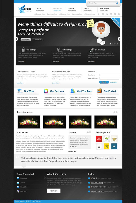 Download 50 Free Website PSD Templates | Ginva