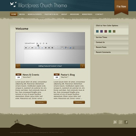 A Free and Premium WordPress Themes for Religious or Church Websites
