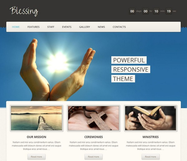 10 free and premium church wordpress themes