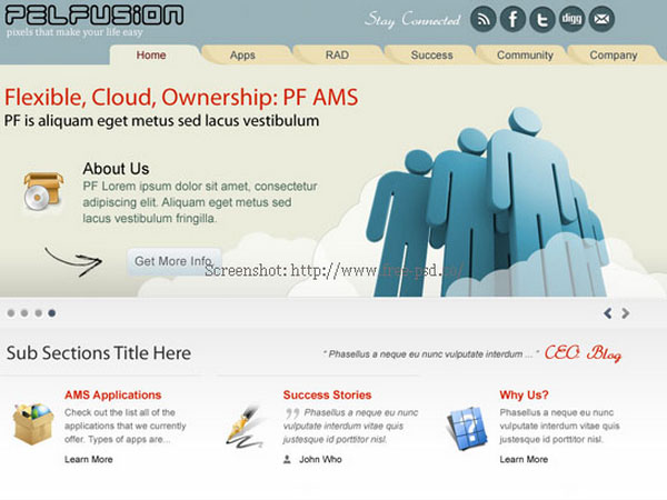 Download Free Website PSD Templates