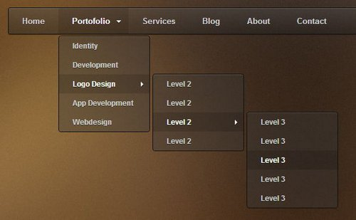 30 drop down menu free premium ginva for Html5 drop down menu template