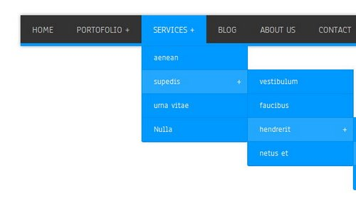 A list of free and premium Drop-Down Menu navigation