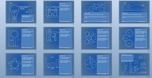 A collection of free PowerPoint slide presentation template in PPT