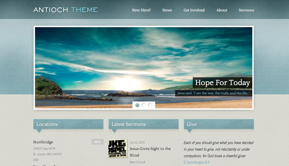 10 Free And Premium Church WordPress Themes | Ginva