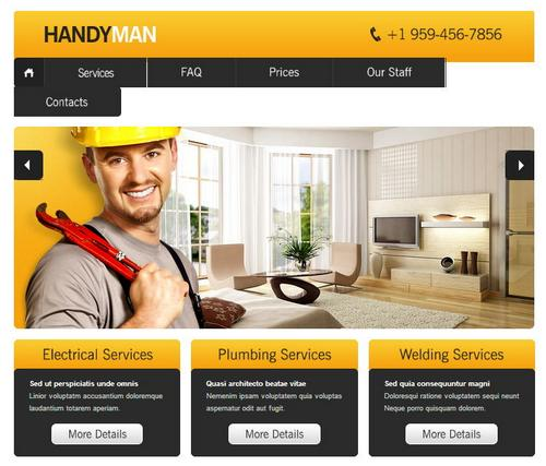 40 free and premium csshtml business templates ginva 11 handyman flashek Gallery