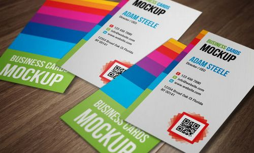25 fresh and free business card templates ginva verticle business cards mockup reheart Images