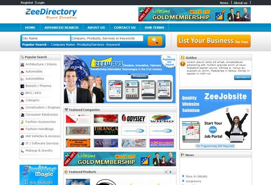 how to find directories in website