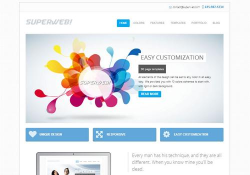 40 free and premium csshtml business templates ginva superweb html5 bootstrap website template flashek
