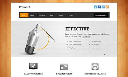 40 free and premium csshtml business templates ginva connect minimalist business template accmission Choice Image