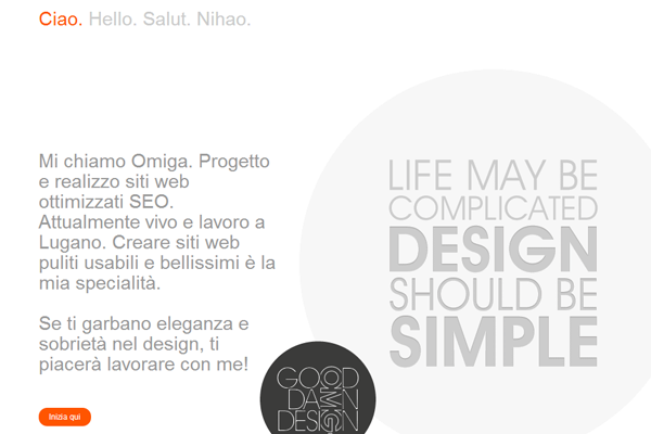 Minimalist Web Design - Omiga Pun portfolio design website layout
