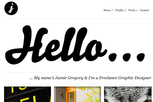 Minimalist Web Design - classy whitespace minimalism design portfolio