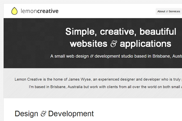 Minimalist Web Design - portfolio layout website minimalist lemon creatives