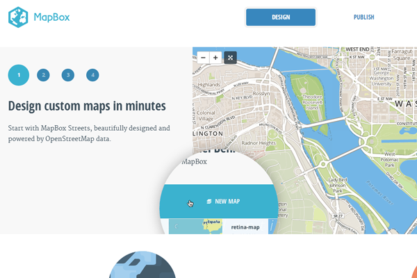 Minimalist Web Design - clean minimal interface mapbox design website
