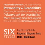 Download New Free Font: ALEO