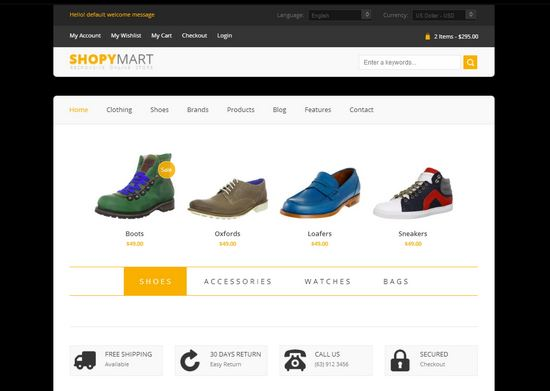 33 free and premium htmlcss ecommerce website templates ginva shopymart html5 theme pronofoot35fo Choice Image