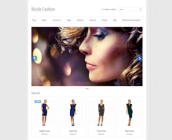 33 free and premium htmlcss ecommerce website templates ginva nicole fashion ecommerce template maxwellsz