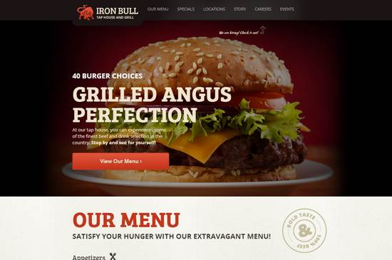 32 awesome restaurant themes wordpress psd html templates ginva iron bull responsive restaurant template pronofoot35fo Images