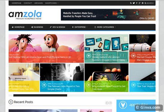 28 Metro Style Templates (HTML/CSS, WordPress & Joomla) | Ginva