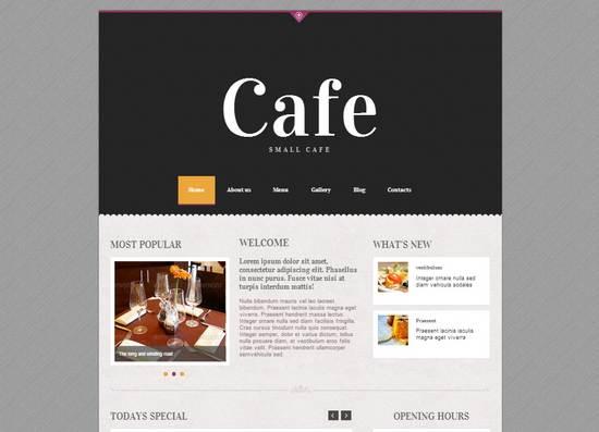 Awesome Restaurant Themes Wordpress PSD HTML Templates Ginva - Minimalist website template