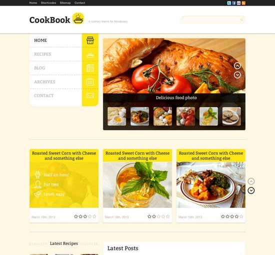 32 awesome restaurant themes wordpress psd html templates ginva live forumfinder Image collections