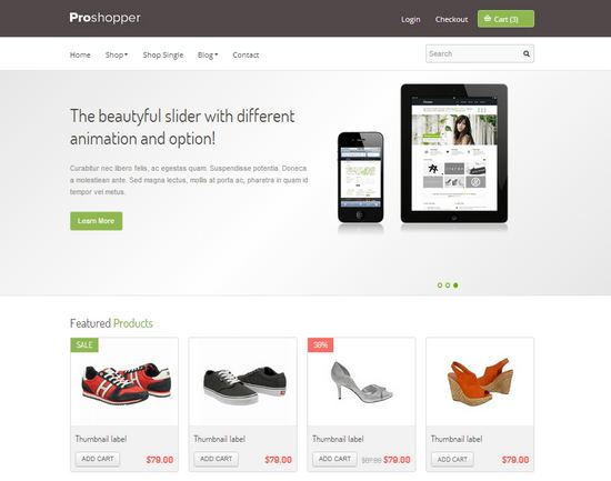 33 Free and Premium HTML/CSS eCommerce Website Templates | Ginva