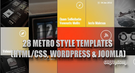 Metro Style Template Design