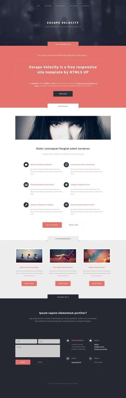 Free Responsive Portfolio Web Template