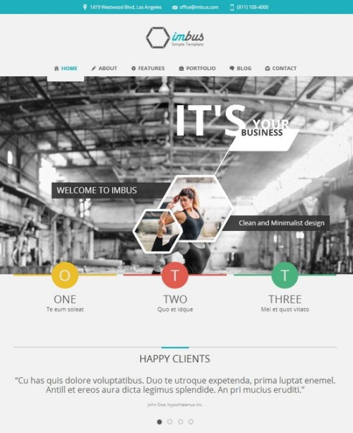 Imbus Simple corporate HTML web Template