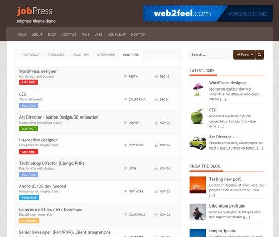 Free Jobpress Job Board Theme