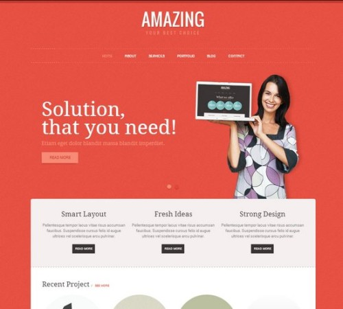 Amazing Corporate HTML Template