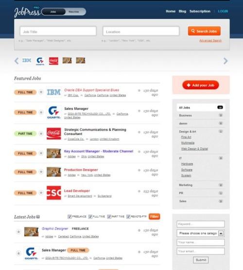 JobPress Online Job Listing Theme