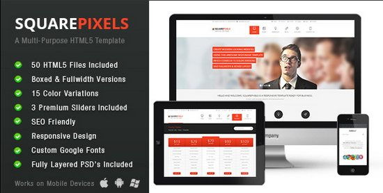 SquarePixels Corporate Multi-Purpose HTML5 Template