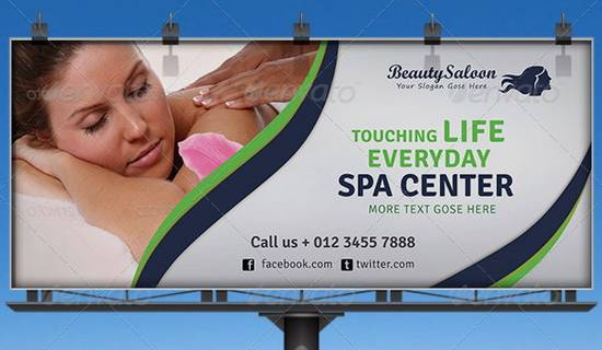Spa Center billboard