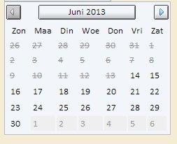 JavaScript Calendar Component