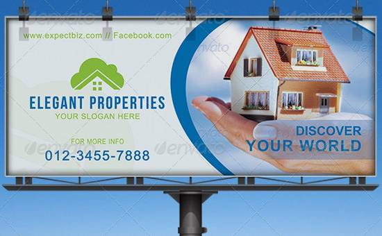 Awesome Billboard Template Designs For Outdoor Advertising Ginva - Real estate advertisement template