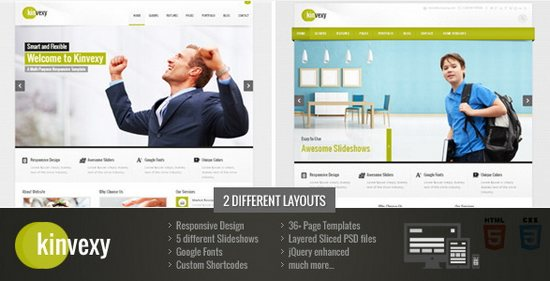 Kinvexy - Responsive Multipurpose Template