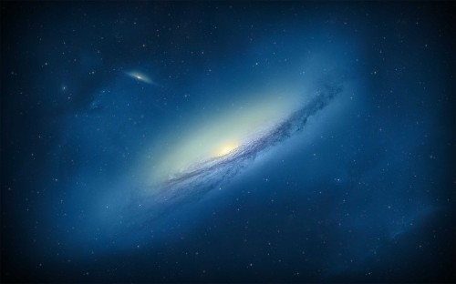 blue outer space stars galaxies 2560x1600
